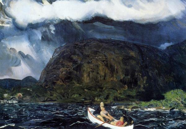 In Rowboat - George Bellows Oil Painting Reproduction