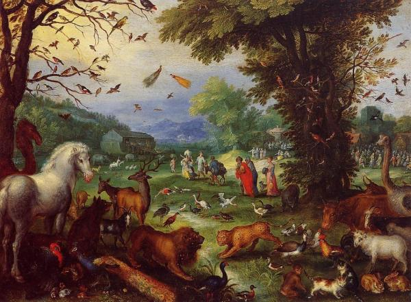 Landscape Of Paradise And Loading Animals In