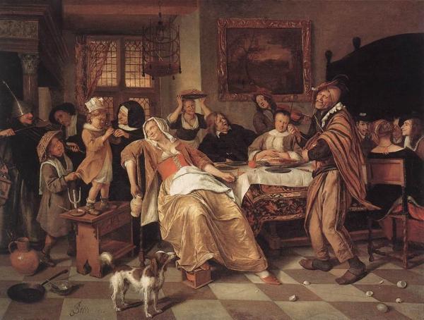 Bean Feast - Jan Steen Oil Painting Reproduction