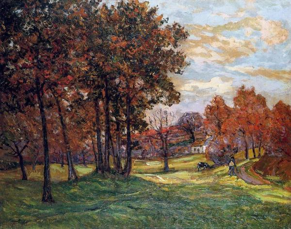 Autumn Landscape Goulazon Finistere - Maxime Maufra