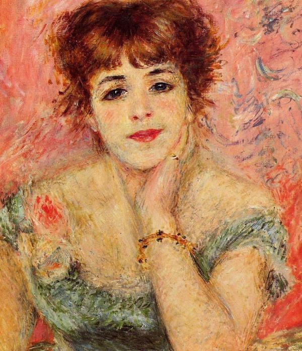 Jeanne Samary La Reverie - Renoir Oil Painting