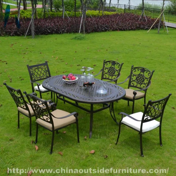 china customized cast aluminum patio furniture dining set suppliers manufacturers wholesale cheap cast aluminum patio furniture dining set from factory new perfect line co limited