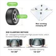 PL-1236IT Arm Wheel Clamp Tire Changer