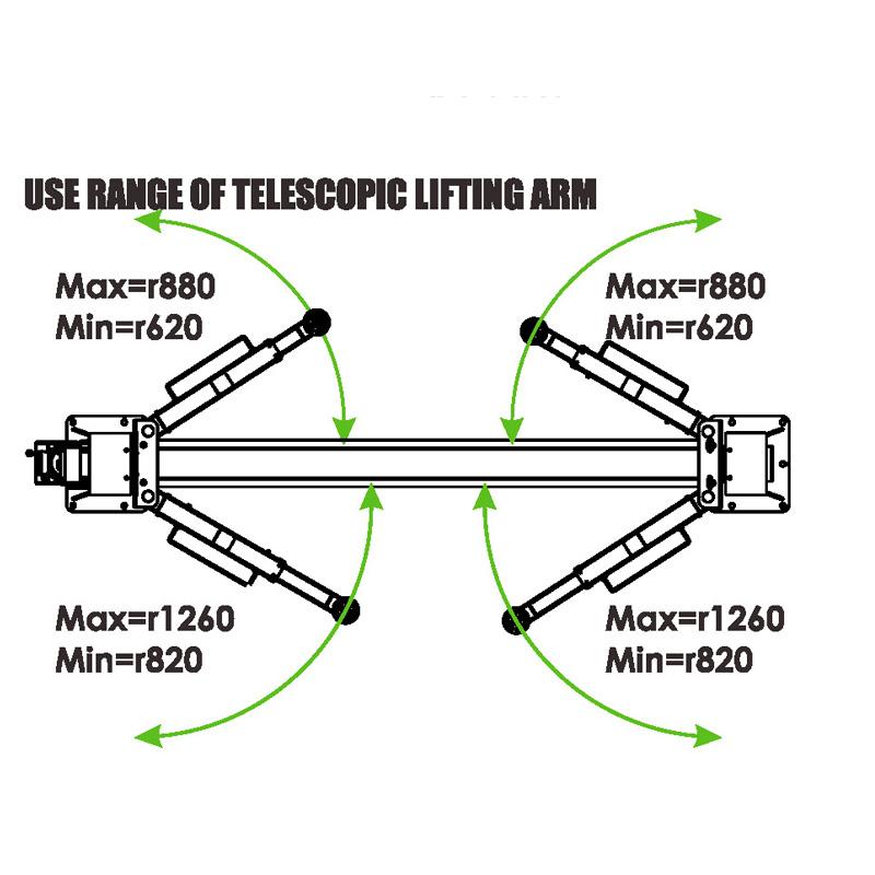 PL-4.0-2DE Baseplate 8,800 lb Capacity 2 Post Lift