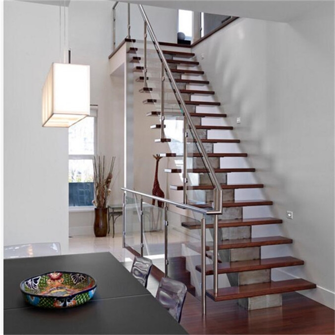 Indoor Tempered Glass Stainless Steel Post Modern Design Stair Railing   Glass Stair Rails And Banisters   Photo Gallery   Perspex   Thick Solid Oak Stair   Mirror   Stair Price