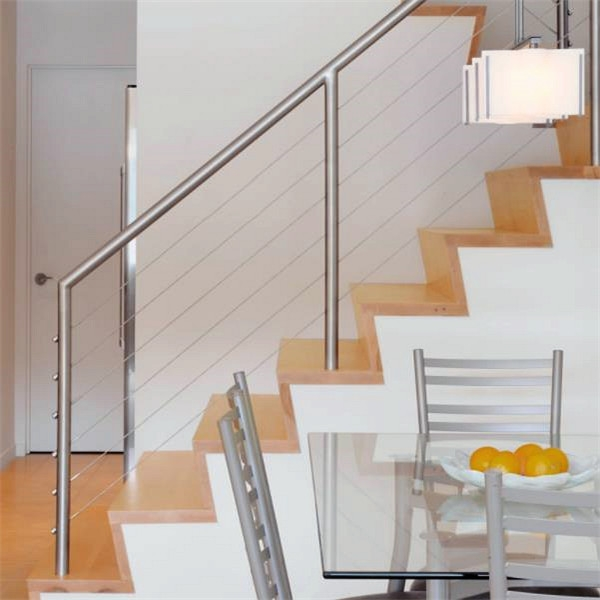 Wooden Handrail Design For Indoor Wood Staircase Stainless Steel   Wooden Stair Railings Indoor   Stain White   House   Wooden Balustrade   Custom   Modern