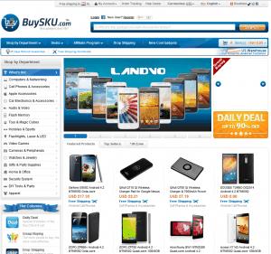 screenshot van de website van buysku