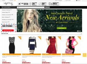 screenshot van de website van heystyle