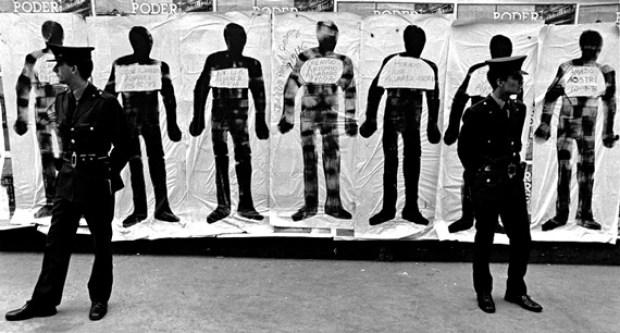 剪影游行抗议