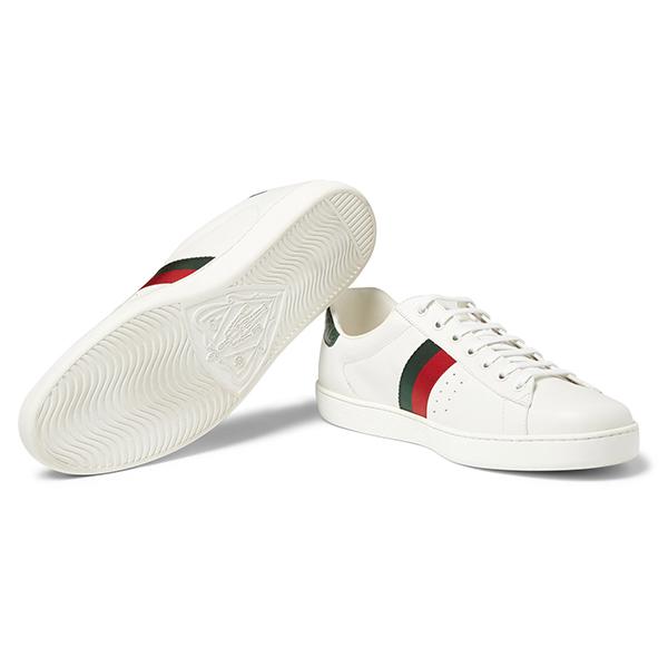 Men's White Low Top Sneakers (3)