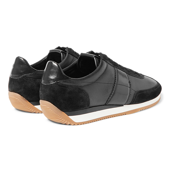 Black Leather Low Top Sneakers (3)