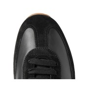 Black Leather Low Top Sneakers (5)