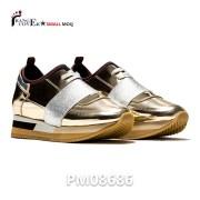 Gold Low Top Sneakers (1)