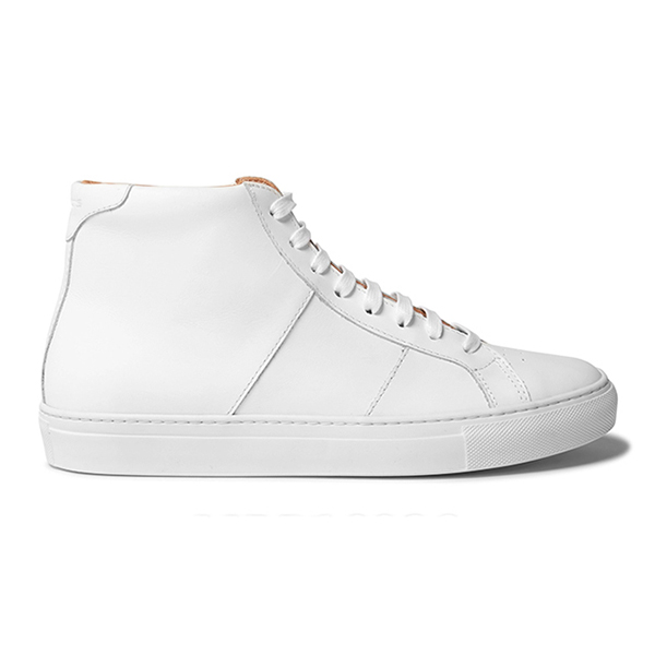 Men's All White High Top Sneakers (4)