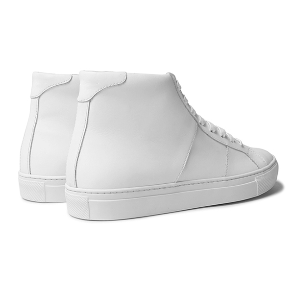 Men's All White High Top Sneakers (5)
