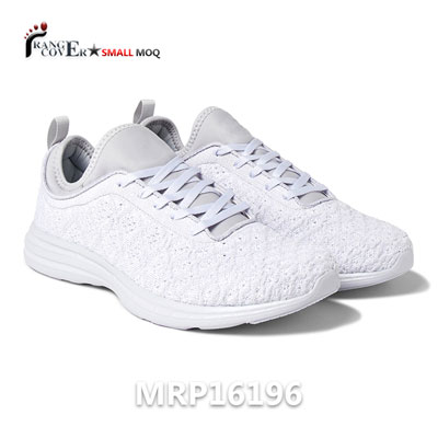 China OEM Sneakers Factory White Mesh Upper Fashion Mens Running Shoes