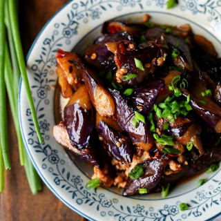 Chinese Eggplants with Minced Pork | China Sichuan Food