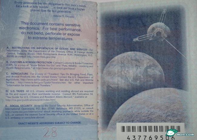 american passport last page - photo #3