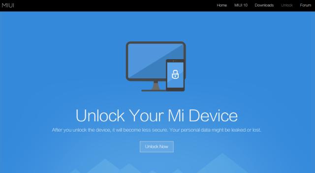 Xiaomi Sblocco Bootloader EN MIUI UNLOCK