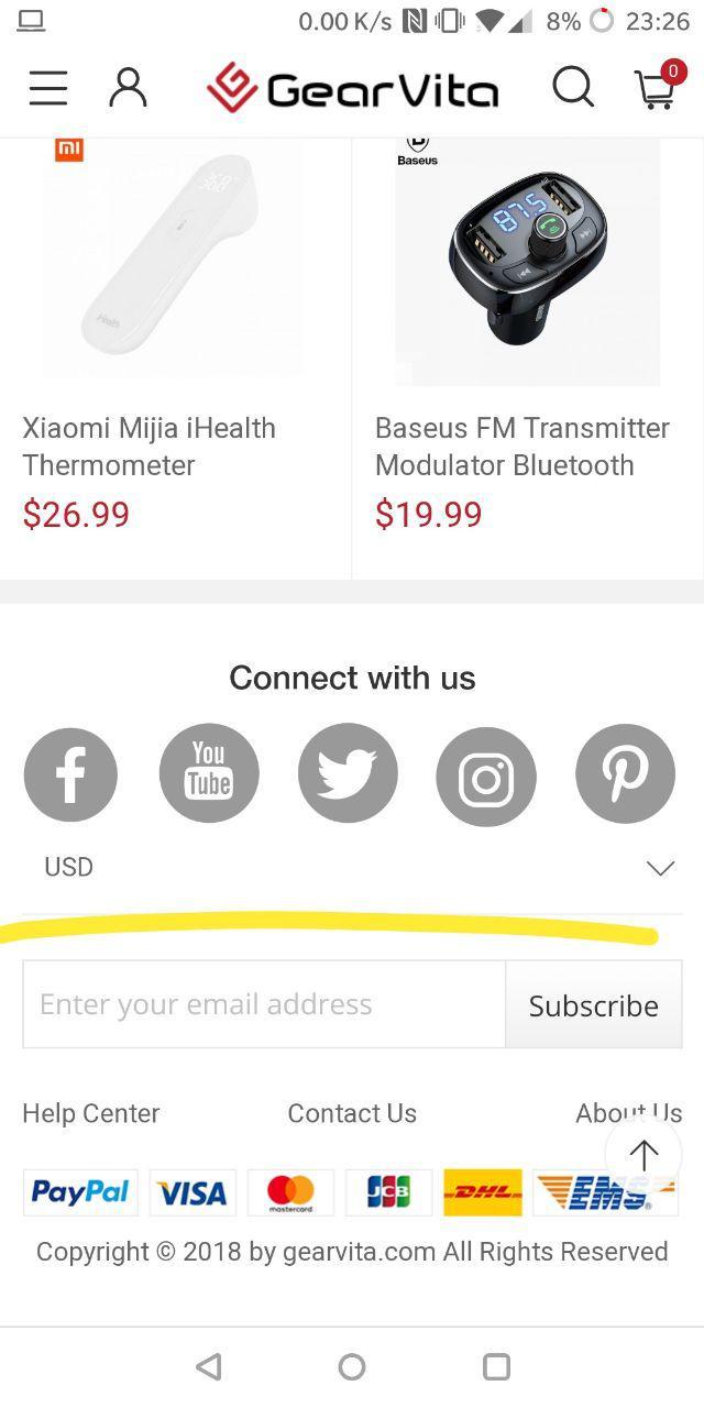 gearvita cambiare valuta mobile