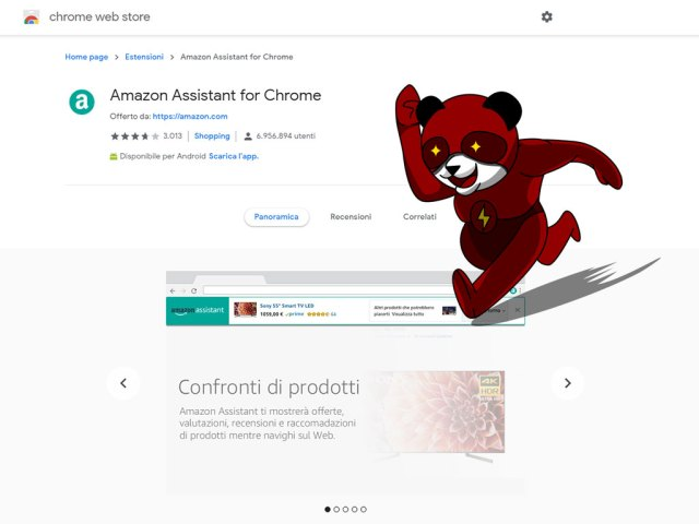 amazon assistant estensione chrome