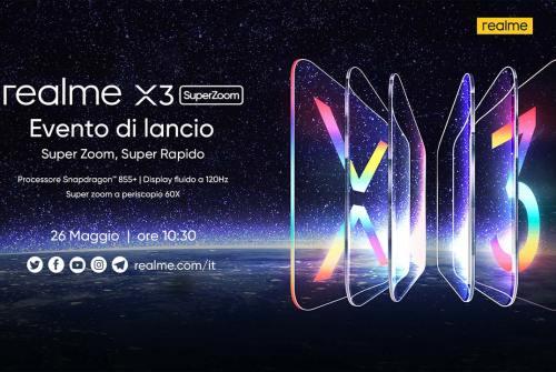 realme X3 SuperZoom ufficiale in Europa: diretta streaming il 26 maggio