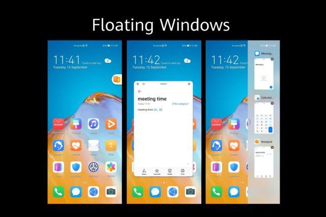 emui 11 floating windows