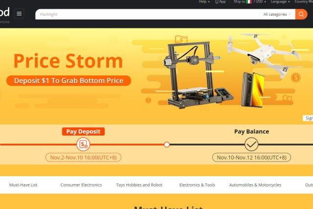 banggood price storm