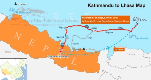 Tibet and Nepal Travel Maps Where is Tibet and Nepal and