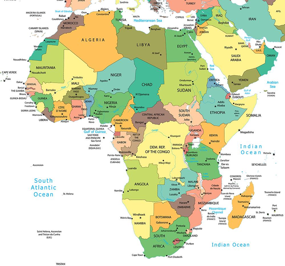 非洲國家地圖和區域劃分 | | ChinaTires.org