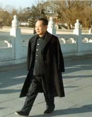 Hu Yaobang walking in Zhongnanhai