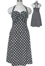 Plus Size Rockabilly Halter Neck Dress