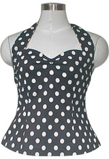 plus size rockabilly polka dot halterneck top