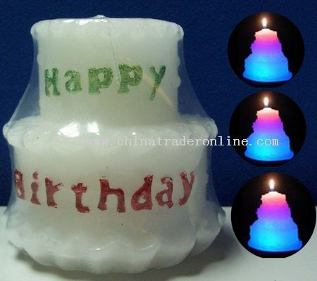 Description: Description Birthday Cake Candle Lamps with 7 Colors
