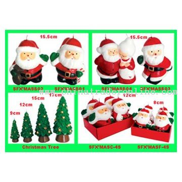 Description: We can supply various types of Christmas candles according to