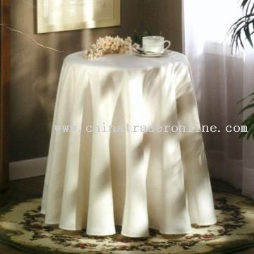 How to sew a border on an oval tablecloth round polka