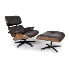 Herman Miller Eames Chair Replica Microfiber Dining Room Covers Lounge Walnut Choco Brown Aniline Leather