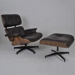 Herman Miller Eames Chair Replica Theater Room Lounge Chairs Walnut Choco Brown Aniline Leather Armchairs Yadea