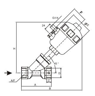 J611F-2 Series Waterhammer-free Angle Seat Valve supplier