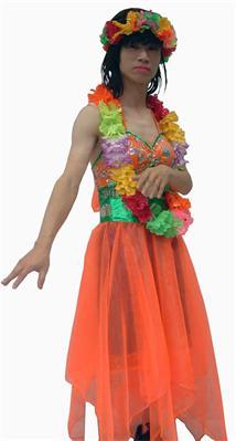 夏威夷女郎(2)-反串夏威夷女郎(紗裙) - 薪傳戲劇服裝出租借店-道具服裝,cosplay服裝出租借臺北公司