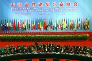 Table ronde lors du Forum sino-africain de 2006