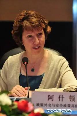 Catherine Ashton en Chine