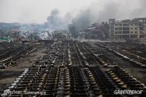 Greenpeace explosion Tianjin Août 2015
