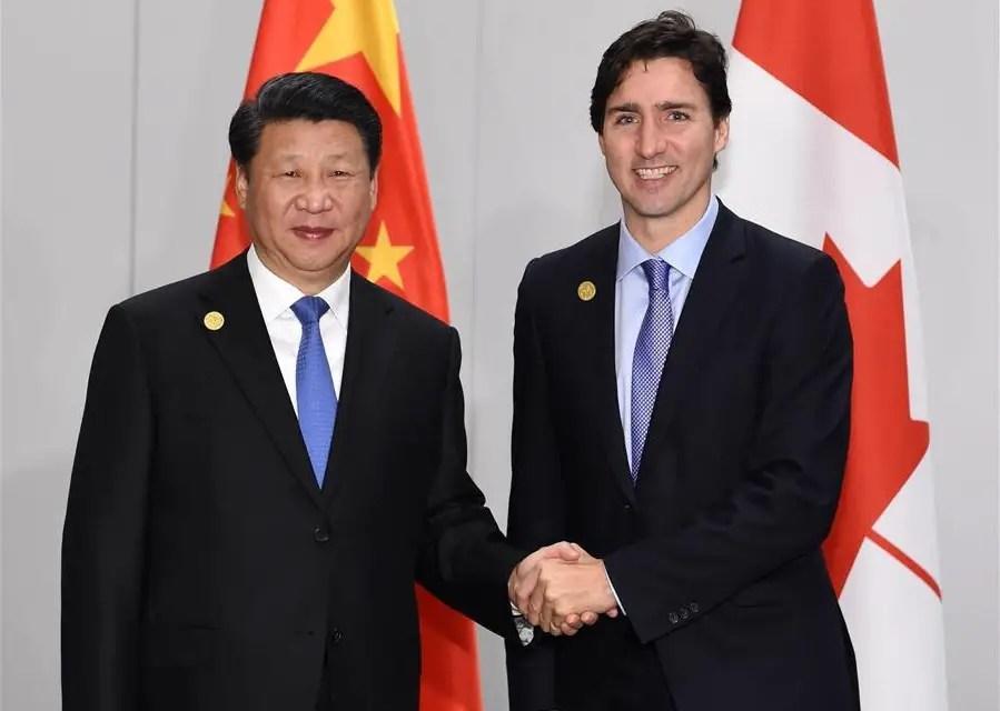 Accord de libre-échange prévu entre la Chine et le Canada