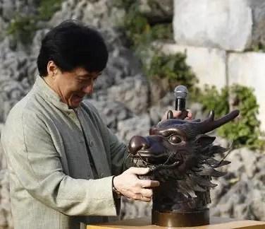 Exposition des têtes au parc Yuanmingyuan, en novembre 2012