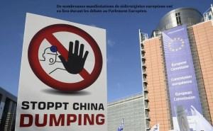 De nombreuses manifestations de sidérurgistes européens ont eu lieu durant les débats
