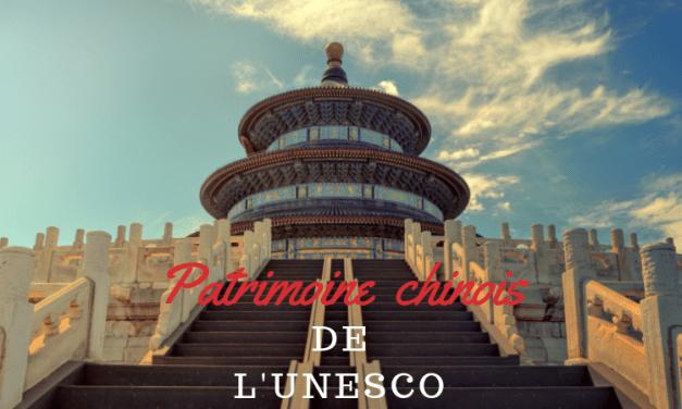 Le plus grand nombre de sites inscrit à l'UNESCO est en Chine
