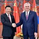 le président Xi Jinping et son homologue serbe, Tomislav Nikolic,