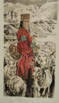 Fermière dans le Xinjiang