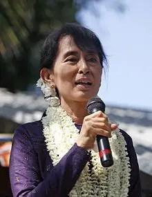 Aung San Suu Kyi, ministre des Affaires étrangères du Myanmar